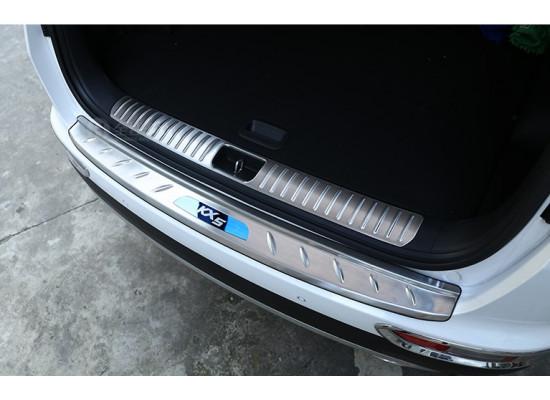 Накладки на задний бампер и в проем багажника для Kia Sportage 4 2016-н.в.