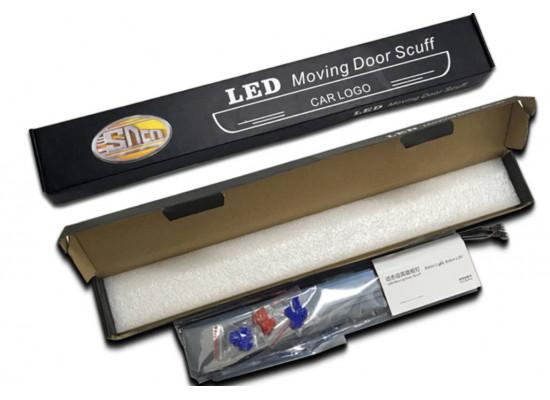 Накладки на пороги LED для Ford Mustang