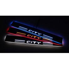 Накладки на пороги LED для Honda City