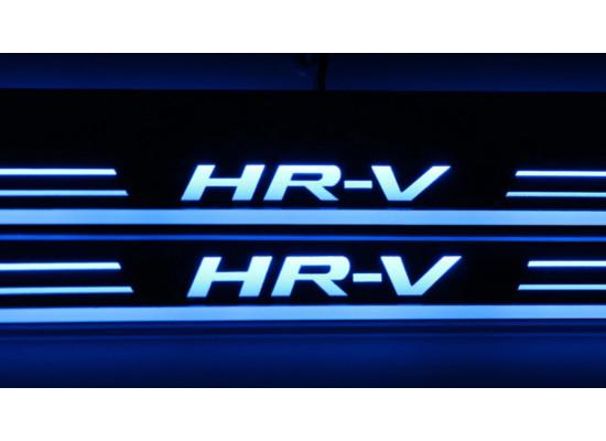 Накладки на пороги LED для Honda HR-V