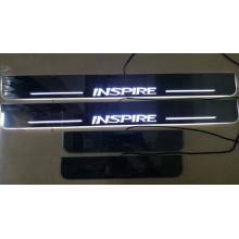 Накладки на пороги LED для Honda Inspire