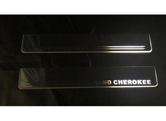 Накладки на пороги LED для Jeep Grand Cherokee