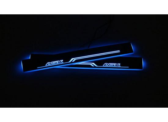 Накладки на пороги LED для Mitsubishi ASX