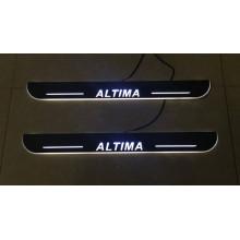 Накладки на пороги LED для Nissan Altima