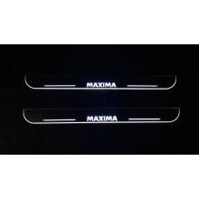 Накладки на пороги LED для Nissan Maxima