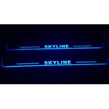 Накладки на пороги LED для Nissan Skyline