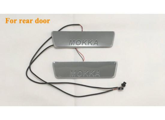 Накладки на пороги LED для Opel Mokka