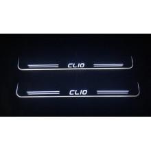 Накладки на пороги LED для Renault Clio