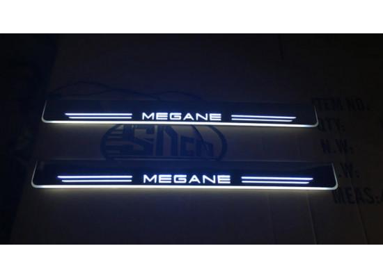 Накладки на пороги LED для Renault Megane