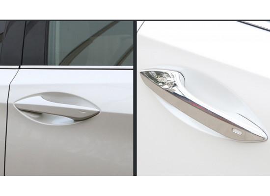 Хромированнаые накладки на ручки и колодцы для Lexus RX 4 2012-н.в. (фото)
