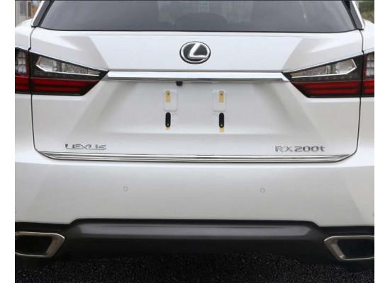 Хромированная накладка на дверь багажника для Lexus RX 4 2015-н.в. (фото)