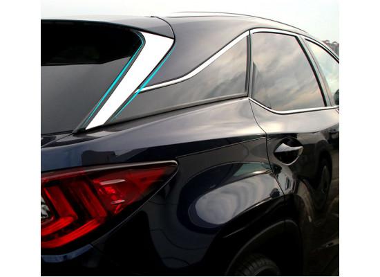 Хромированные накладки на стекло крышки багажника для Lexus RX 4 2015-н.в. (фото)