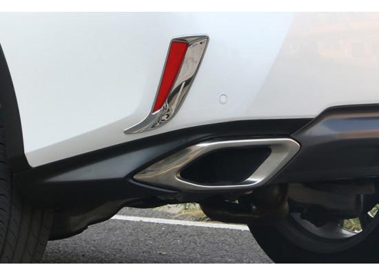 Хромированные накладки на задние ПТФ для Lexus RX 4 2015-н.в. (фото)