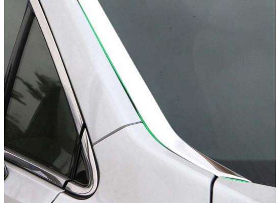 Хромированные накладки по бокам лобового стекла для Lexus RX 4 2015-н.в. (фото)