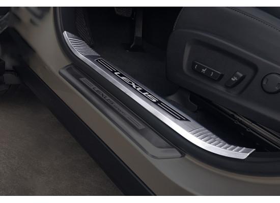 Накладки на внутренние пороги для Lexus RX 4 2015-н.в. (фото)