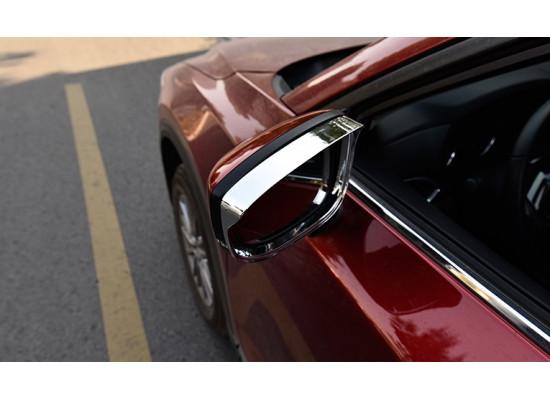 Хромированные козырьки на зеркала для Mazda CX-5 2017-н.в. (фото)