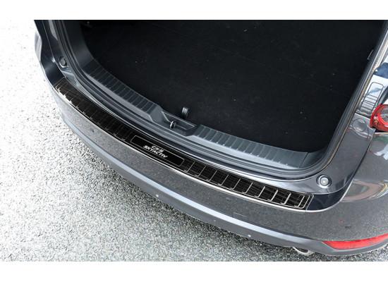 Накладки на задний бампер в багажник для Mazda CX-5 2017-н.в.