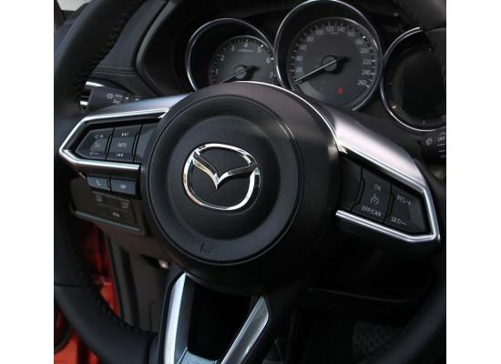 Накладки на руль для Mazda CX-5 2017-н.в. (фото)