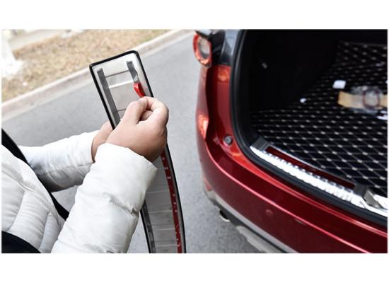 Накладка на задний бампер в багажник для Mazda CX-5 2017-н.в.