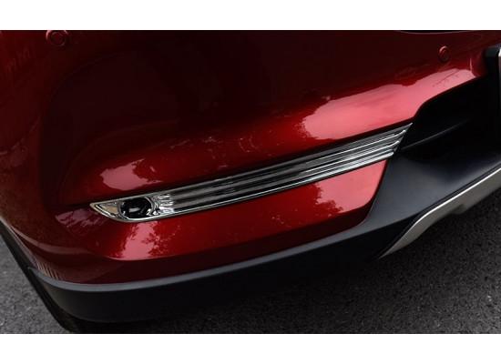 Накладки на передние противотуманные фары для Mazda CX-5 2017-н.в. (фото)