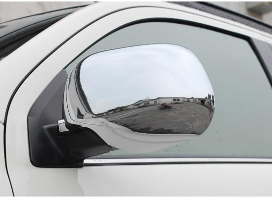 Цельные хромированные накладки на зеркала для Mitsubishi ASX 2012-н.в.