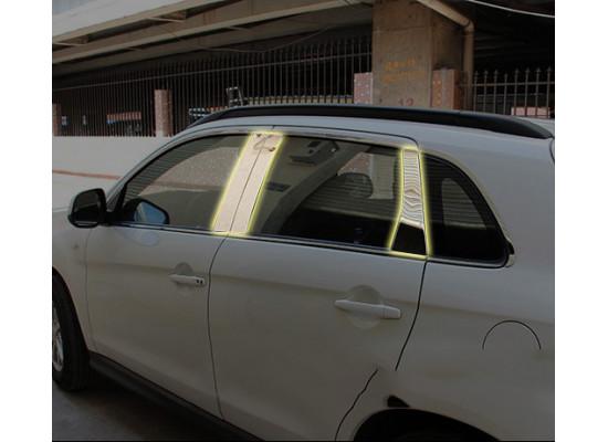 Хромированные накладки на окна для Mitsubishi ASX 2012-н.в. (фото)