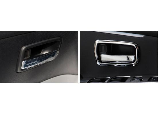Хромированные накладки на рамки внутренних ручек дверей для Mitsubishi ASX 2012-н.в. (фото)