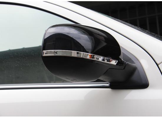 Хромированные накладки на зеркала для Mitsubishi ASX 2012-н.в. (фото)