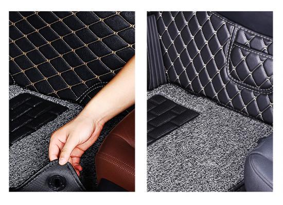 Набор кожаных ковриков для Mitsubishi ASX 2012-н.в. (фото)