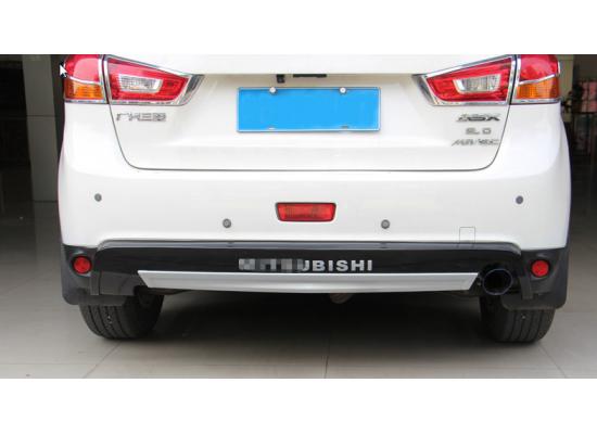 Накладки на передний и задний бампера для Mitsubishi ASX 2012-2016 (фото)