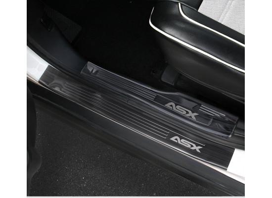 Накладки на пороги для Mitsubishi ASX 2012-н.в. (фото)