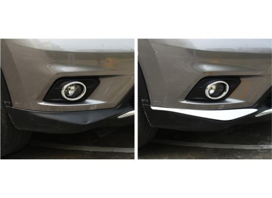 Хромированные накладки на бампер под ПТФ для Nissan X-Trail 3 2013-н.в.