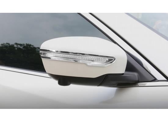 Хромированные накладки на зеркала для Nissan X-Trail 3 Рестайлинг 2017-н.в
