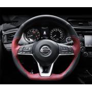 Кожаная оплетка руля для Nissan X-Trail 3 Рестайлинг 2017-н.в
