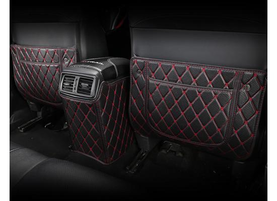 Кожаные защитные накладки на спинки передних сидений для Nissan X-Trail 3 Рестайлинг 2017-н.в