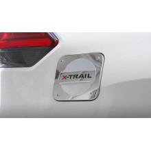 Накладка на крышку бензобака для Nissan X-Trail 3 Рестайлинг 2017-н.в