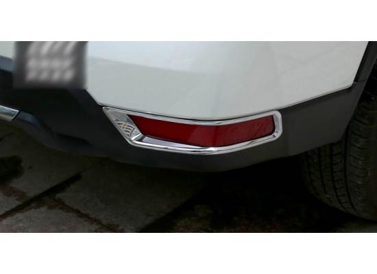 Накладки на передние и задние ПТФ для Nissan X-Trail 3 Рестайлинг 2017-н.в