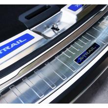 Накладки на задний бампер и в проем багажника для Nissan X-Trail 3 Рестайлинг 2017-н.в