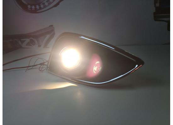 Противотуманные фары с ангельскими глазками для Hyundai IX 35