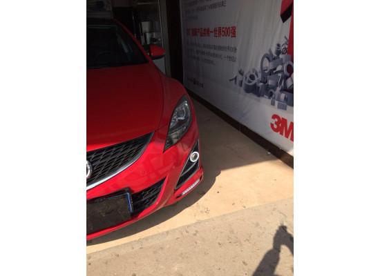 Противотуманные фары с ангельскими глазками для Mazda 6 Рестаилинг 10-13 г (фото)