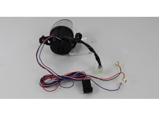Светодиодные противотуманные фары с ДХО орлиный глаз овальные для Nissan-Infiniti