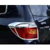 Хромированные накладки на передние и задние фары для Toyota Highlander 2 2007-2010