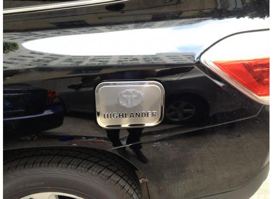 Накладка крышку бензобака для Toyota Highlander 2 и 3 2010-н.в. (фото)