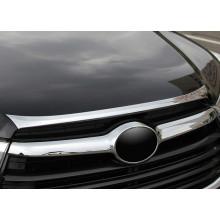 Хромированная накладка на капот для Toyota Highlander 3 2016-н.в. (фото)