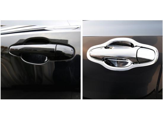 Хромированные накладки на ручки дверей для Toyota Highlander 3 2016-н.в. (фото)