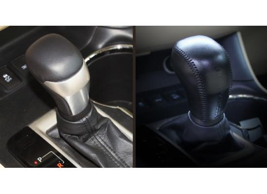 Кожаный чехол для ручки КПП для Toyota Highlander 3 2016-н.в. (фото)