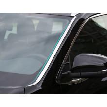 Хромированные накладки по краям лобового стекла для Toyota Highlander 3 2016-н.в. (фото)
