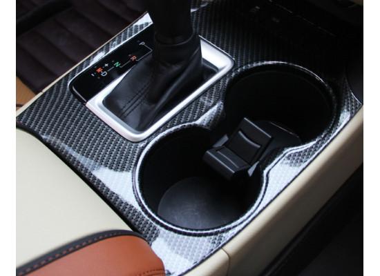 Карбоновая накладка на центральную панель управления для Toyota Highlander 3 2016-н.в.