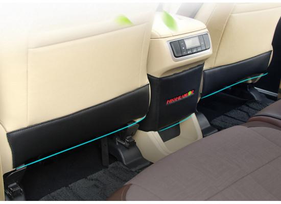 Кожаные защитные накладки на спинки задних сидений для Toyota Highlander 3 2016-н.в. (фото)