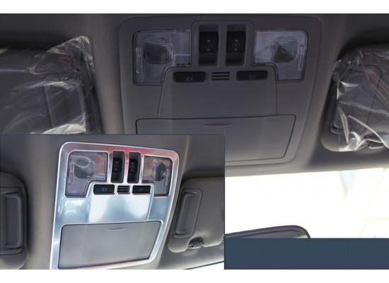Накладки на панели подсветки в салоне для Toyota Highlander 3 2016-н.в. (фото)